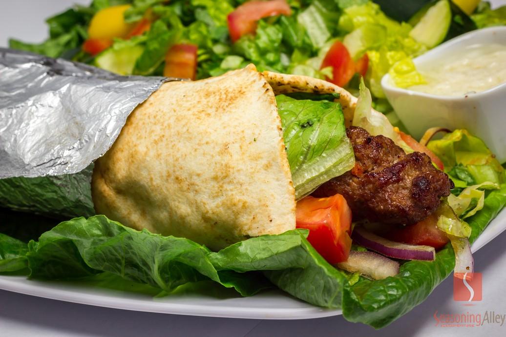 18) Beef Lula Kabob Wrap